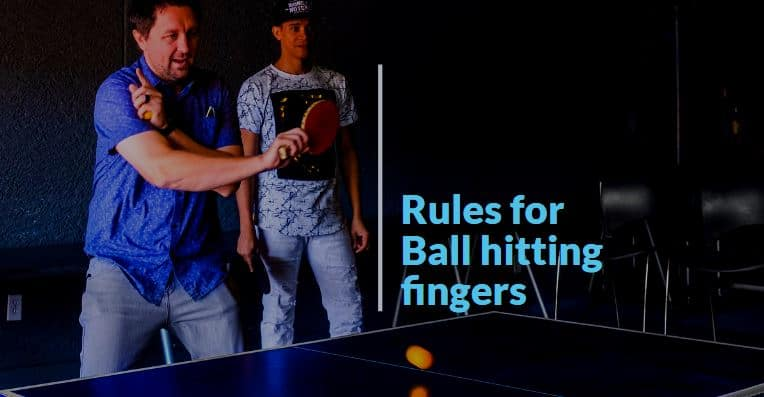 hitting ball in finger
